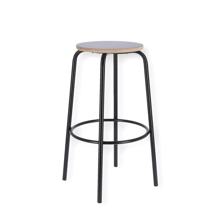 Paris bar stool H 65 cm from Jan Kurtz in black