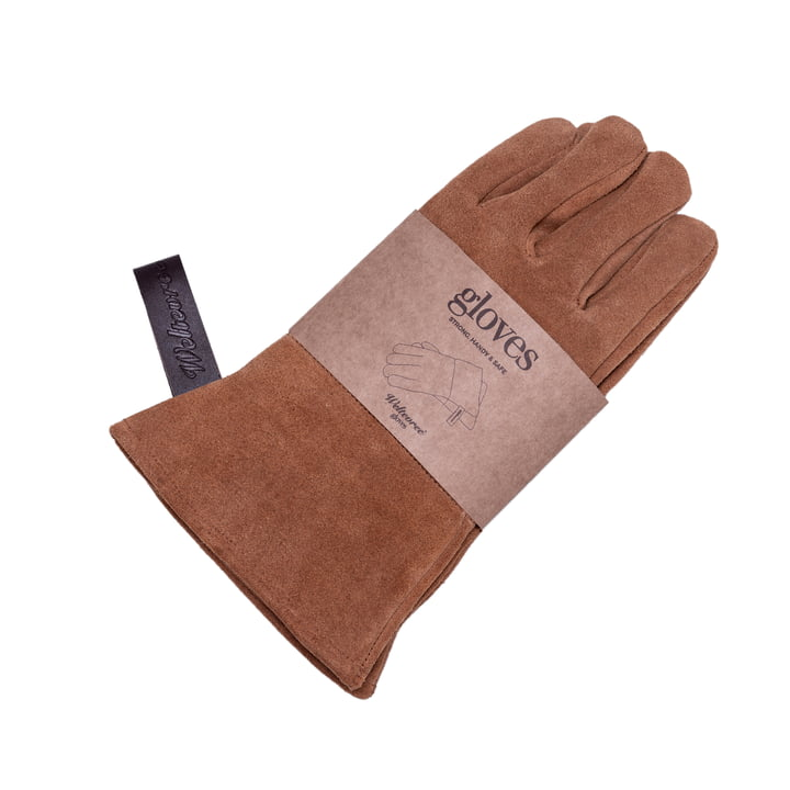 Outdoor steel oven grill gloves from Weltevree in brown