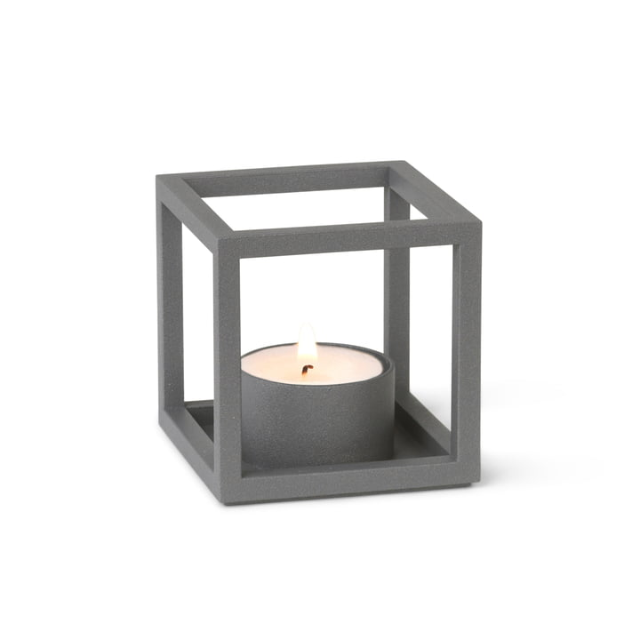Kubus T Tealight holder from by Lassen in grey