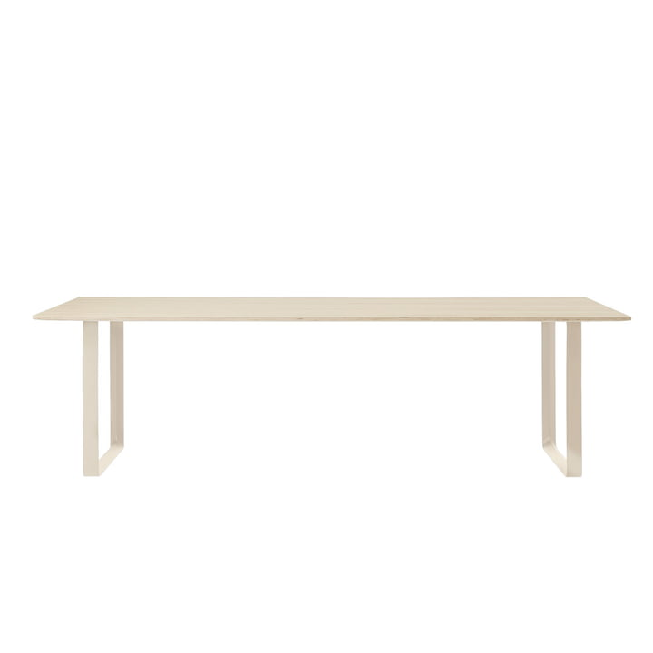 70/70 dining table 255 x 108 cm from Muuto in oak / sand