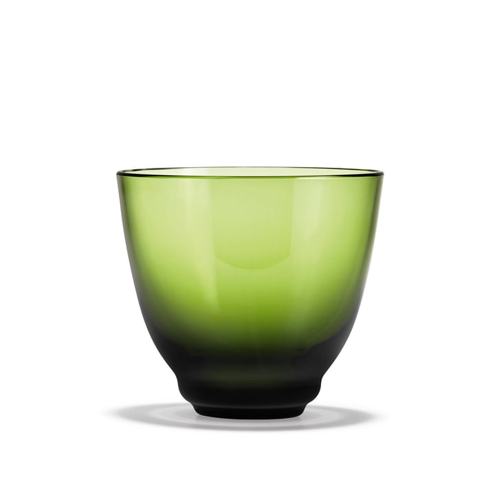 Flow Water glass 35 cl from Holmegaard in green