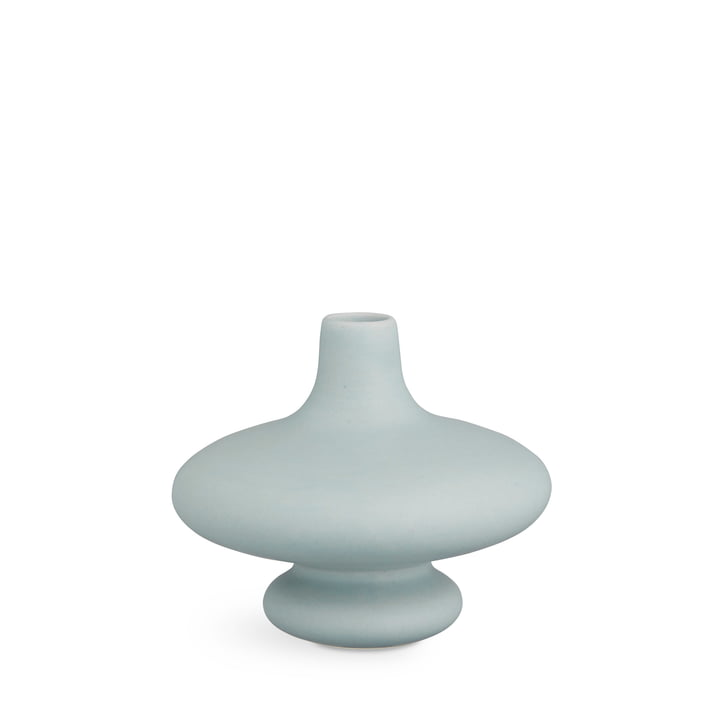 contour vase H 14 cm from Kähler Design in blue