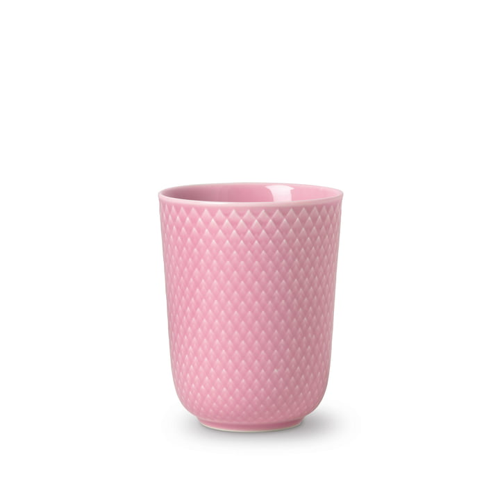 Rhombe Cup 33 cl from Lyngby Porcelæn in pink