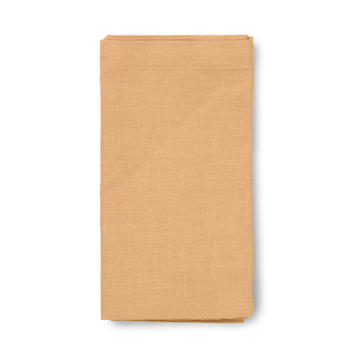 Basic cotton tablecloth Juna in ochre