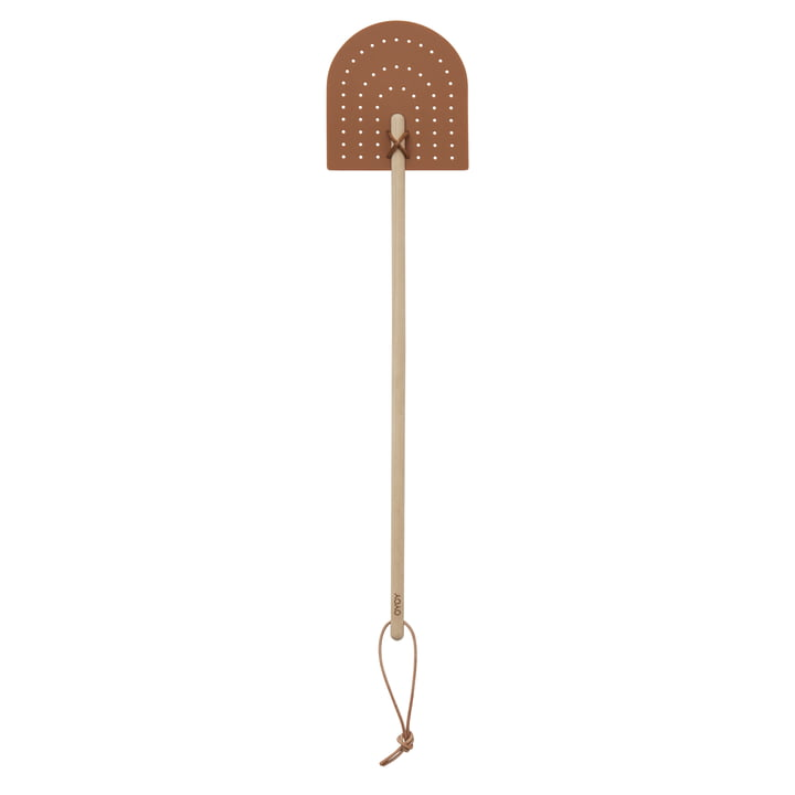 Rainbow Fly Swatter, brown by OYOY