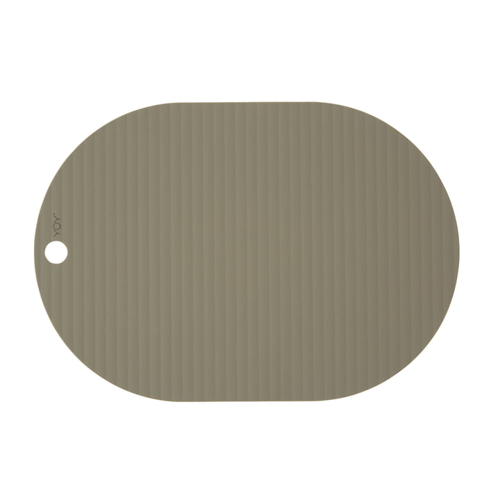 Ribbo place mat oval, olive from OYOY