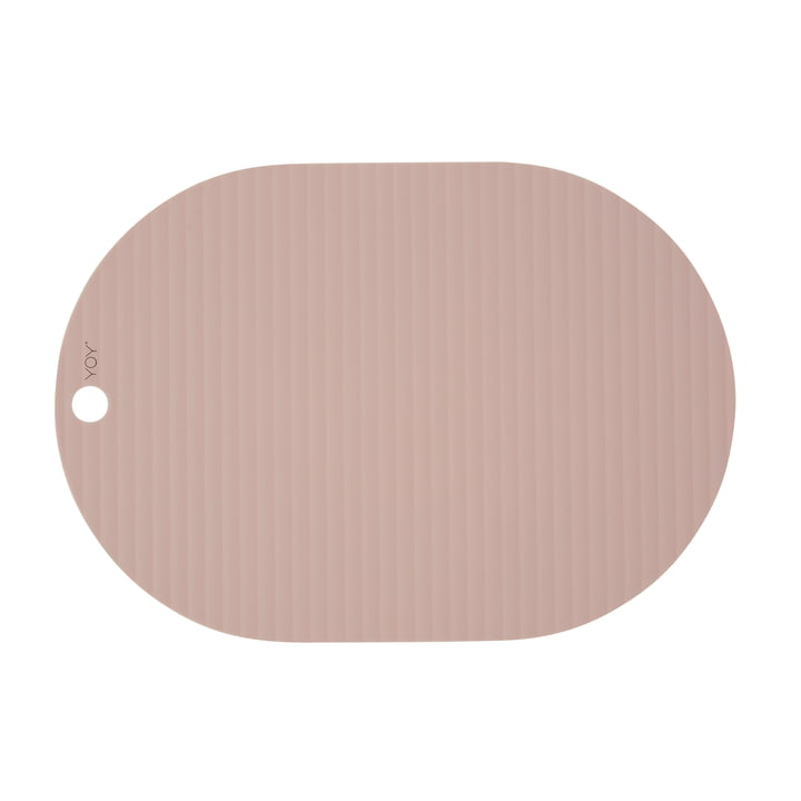 Ribbo place mat oval, pink from OYOY