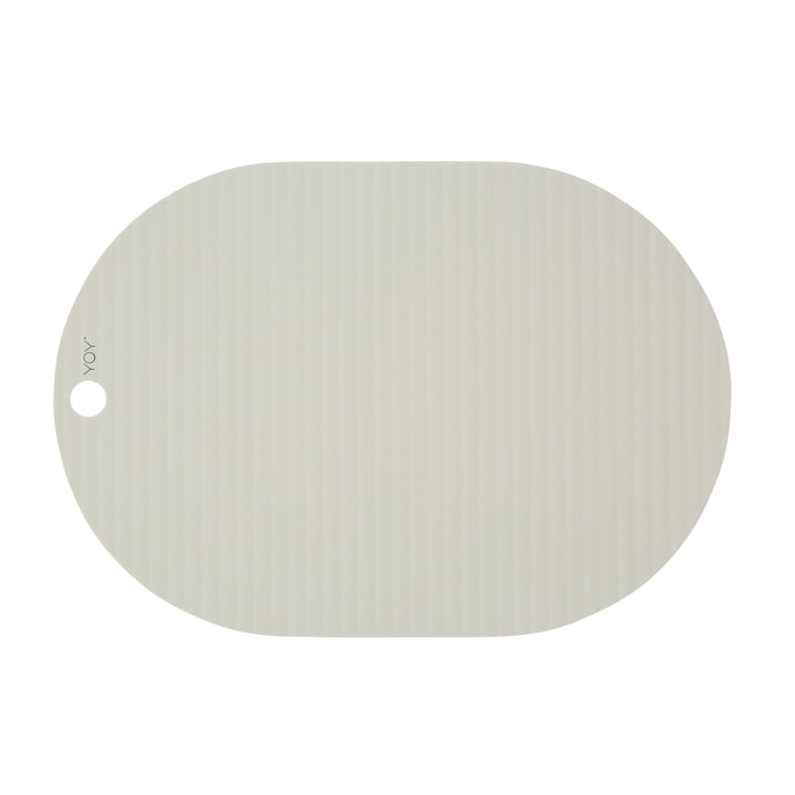 Ribbo place mat oval, off-white from OYOY