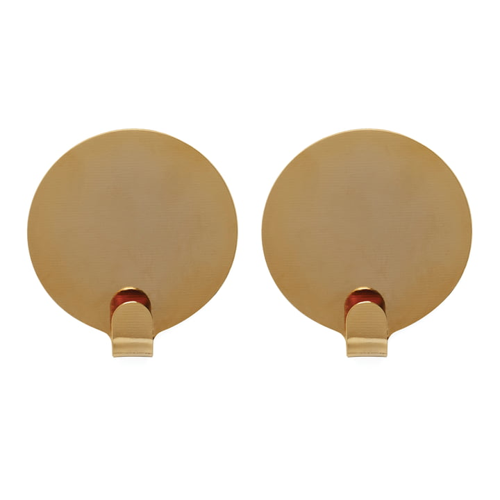 Hook Ping Wall hook, brass (set of 2) from OYOY