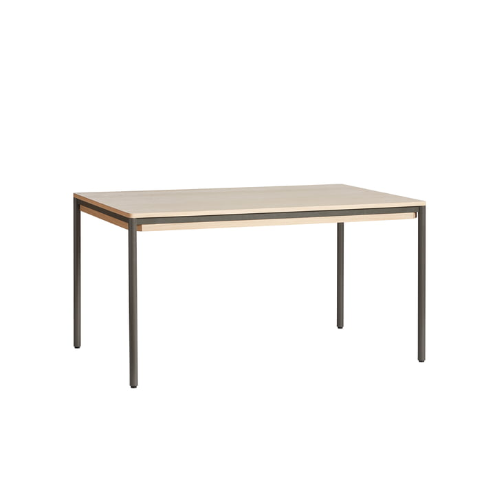 Piezas Dining table, 85 x 140 from Woud in grey / oak white pigmented