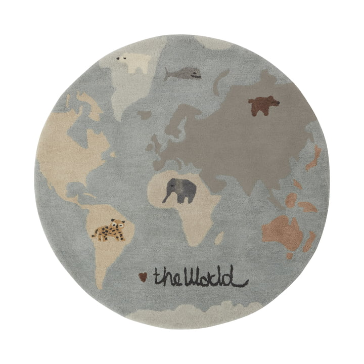 The World play carpet Ø 120 cm from OYOY