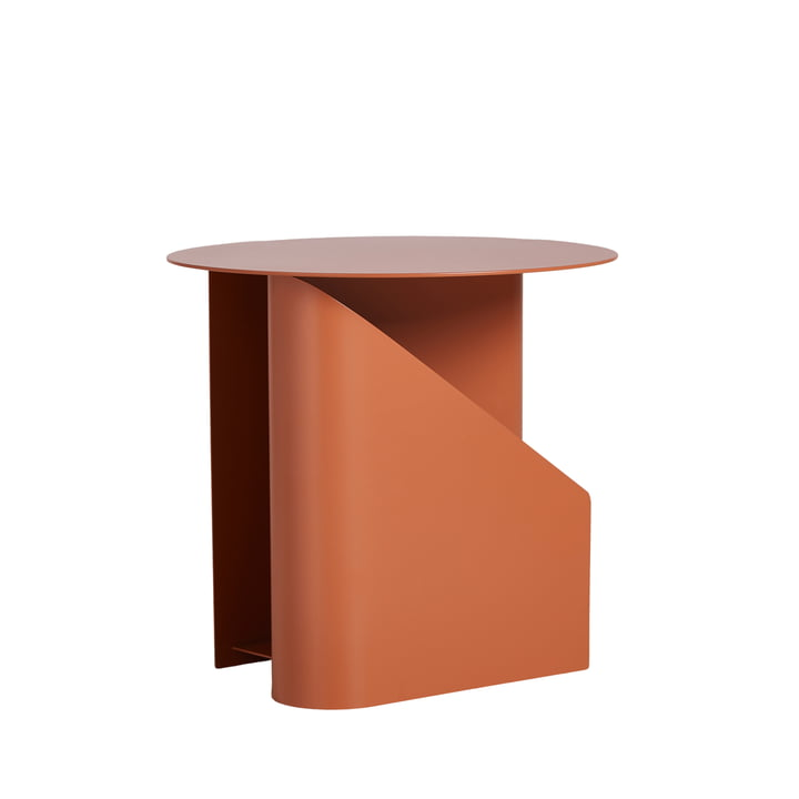 Sentrum Side table Ø 40 x H 36 cm from Woud in burnt orange