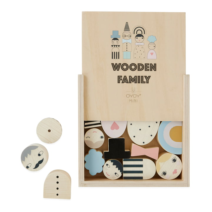 Wooden toy family, nature of OYOY