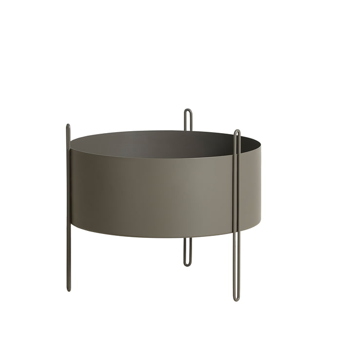 Pidestall Plant container M from Woud in taupe