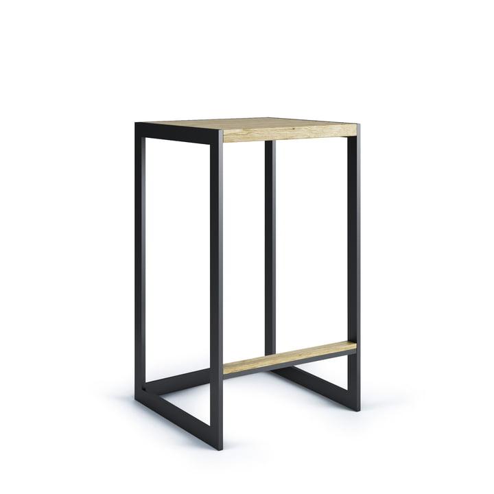 Garden Bar stool H 60 cm, stainless steel / teak from Röshults