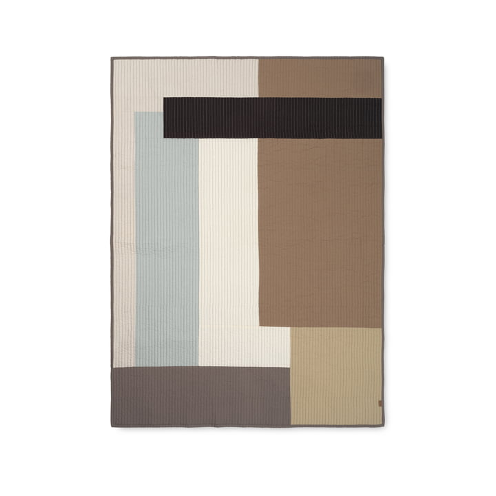 Shay patchwork quilt, desert from ferm Living