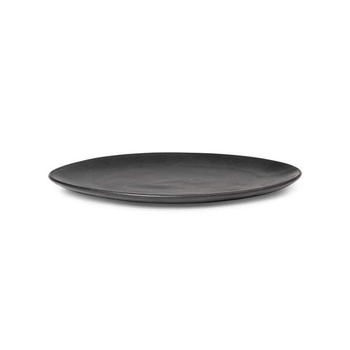 Flow Plate Ø 22 cm from ferm Living in black