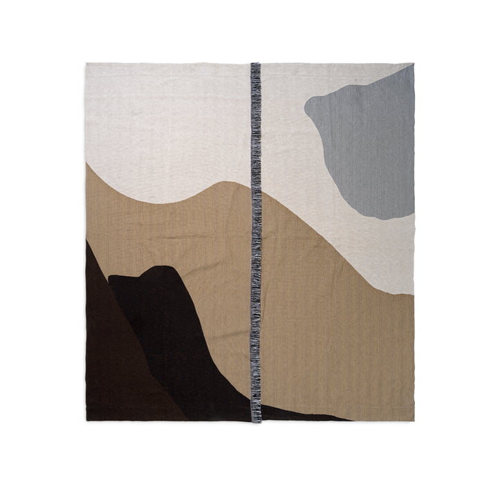 Vista bedspread 240 x 250 cm by ferm Living in sand