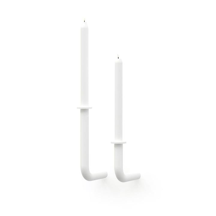 Frederik Roijé - Wall of Flame Candlestick set, white