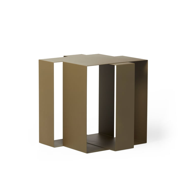 Shifted Square Side table from Frederik Roijé in green