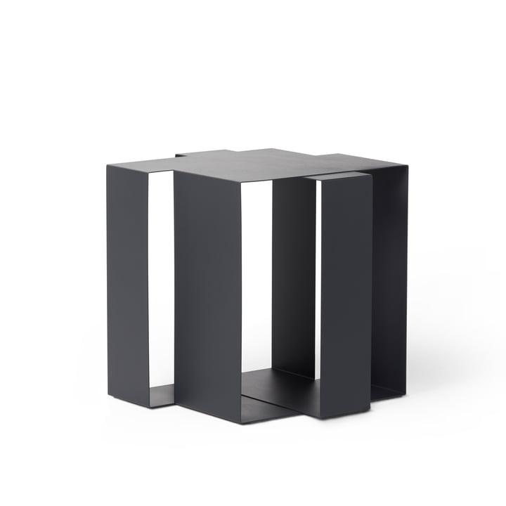 Shifted Square Side table from Frederik Roijé in dark grey