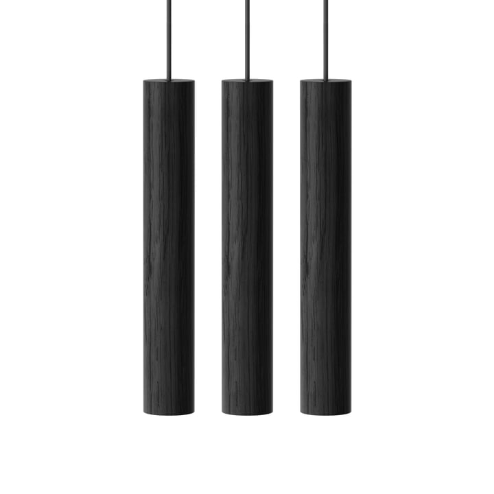 Chimes Cluster 3 LED pendant light, Ø 3 x 22 cm, black from Umage