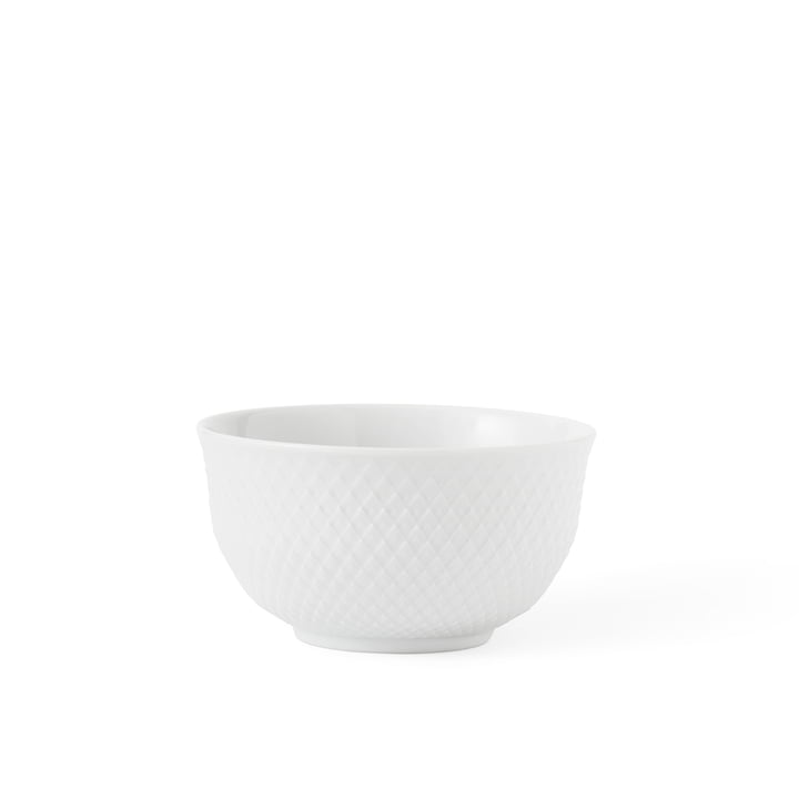 Rhombus bowl 35 cl from Lyngby Porcelæn in white
