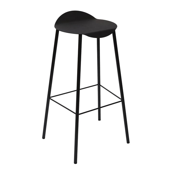 Flamingo bar stool by LindDNA in black / Nupo black