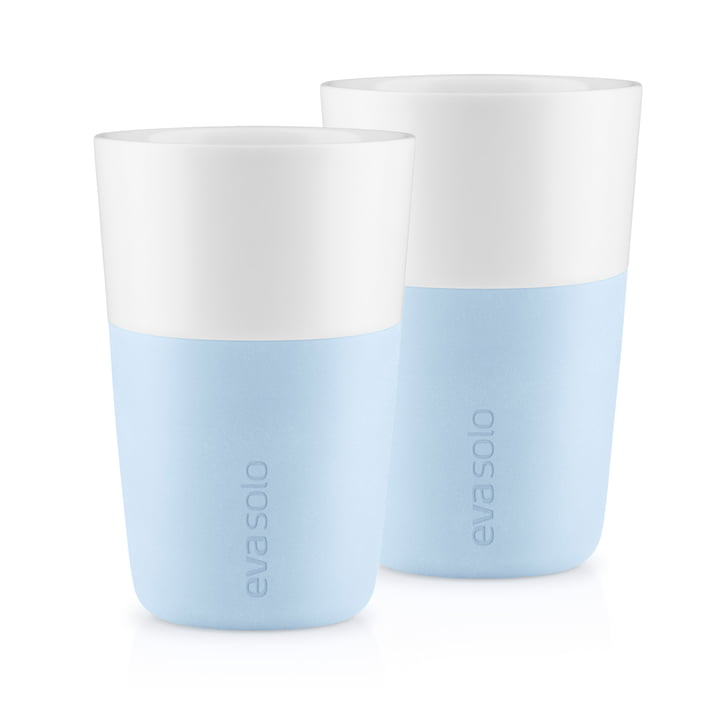 Caffé Latte cups (set of 2) by Eva Solo in soft blue