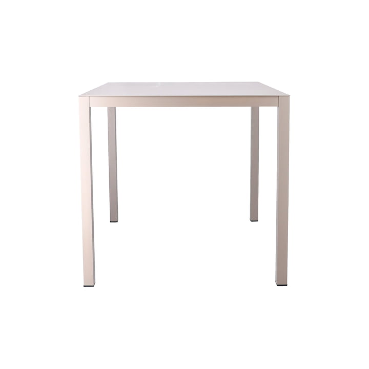 Aria table 80 x 80 cm from Fiam in taupe