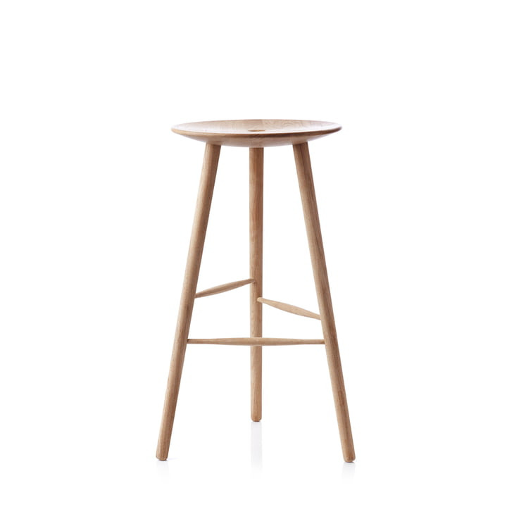 Di Volo bar stool H 65 cm from applicata in oak