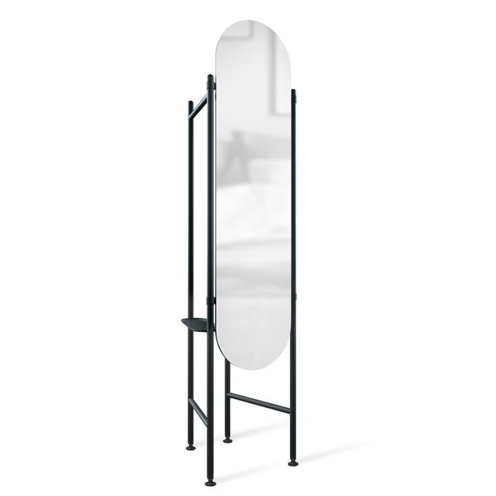 Vala Standing mirror with wardrobe of Umbra black