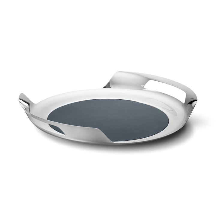 Helix Tray, stainless steel by Georg Jensen