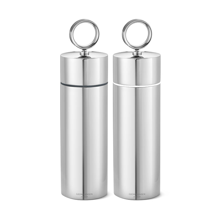 Bernadotte salt and pepper mill set, stainless steel by Georg Jensen