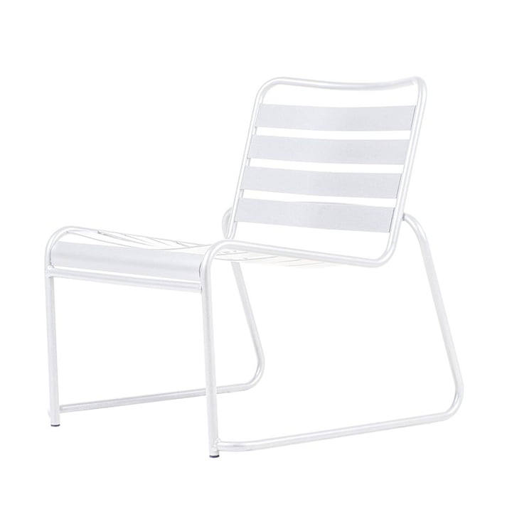 Lido Metall Lounge armchair from Fiam in white