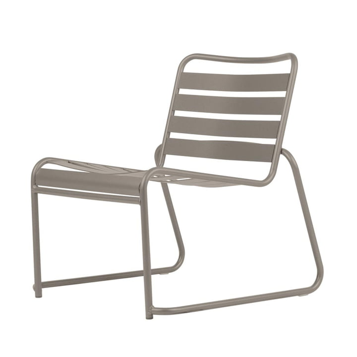 Lido Metall Lounge armchair from Fiam in taupe