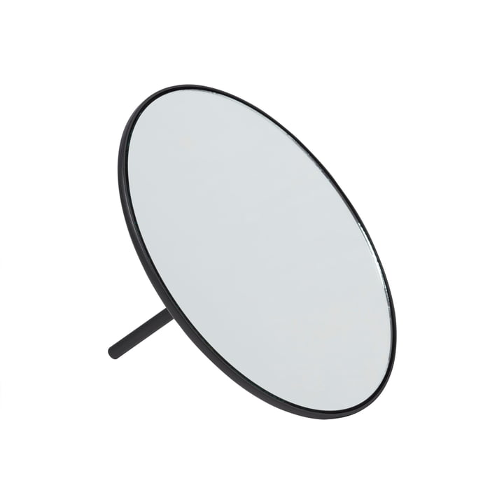 IO table mirror Ø 18 cm from Gejst in black
