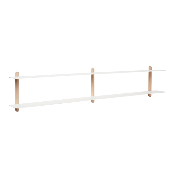 Nivo wall shelf C from Gejst in light oak / white