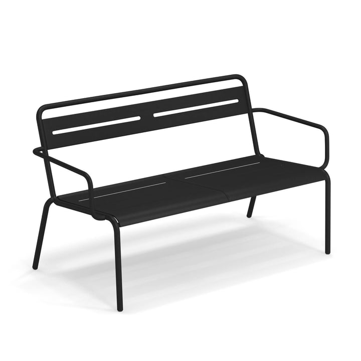 Star Sofa with armrests from Emu in black