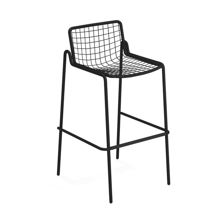 Rio R50 Bar stool, black by Emu