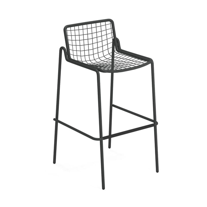 Rio R50 Bar stool, antique iron from Emu