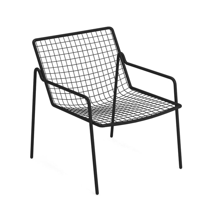 Rio R50 lounge chair, black by Emu