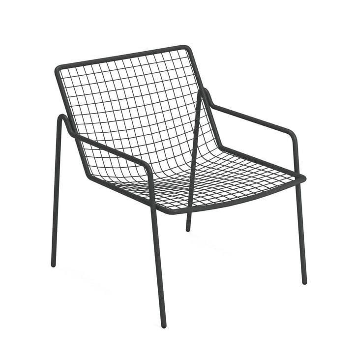 Rio R50 lounge chair, antique iron by Emu