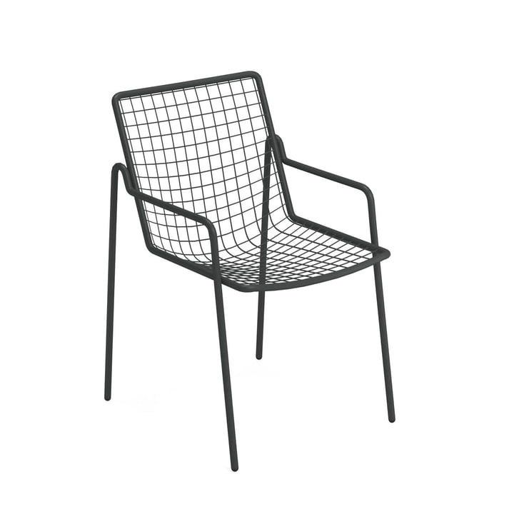 Rio R50 armchair, antique iron by Emu