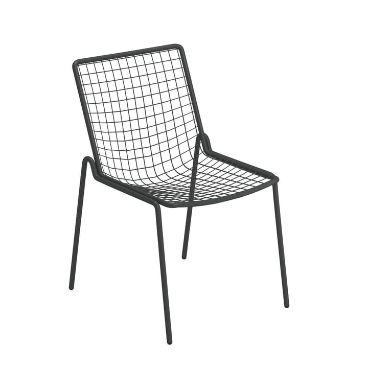 Rio R50 chair, antique iron by Emu