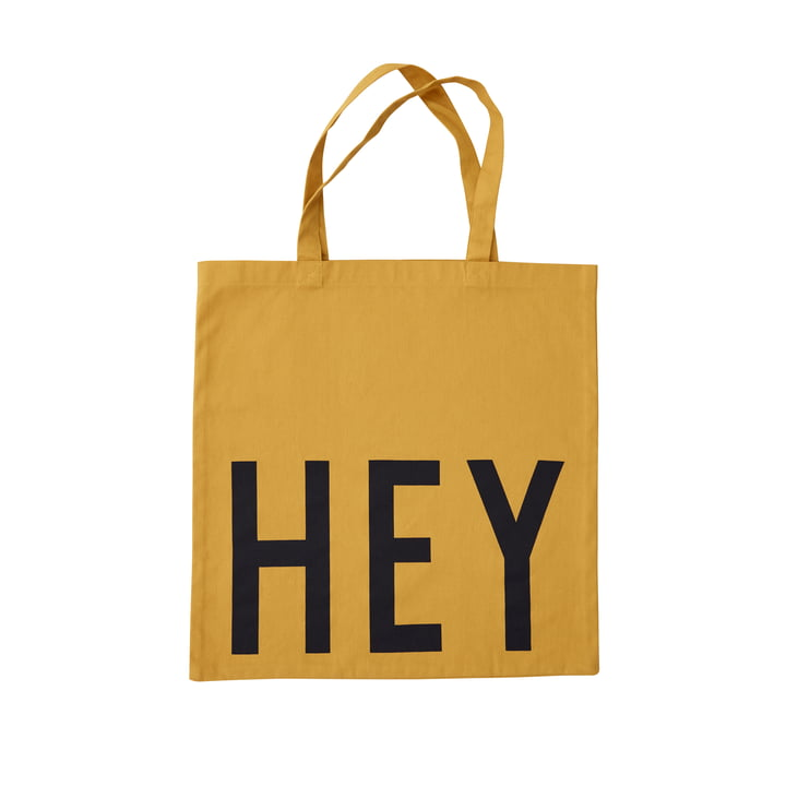 AJ Favourite Carrier bag, Hey / mustard from Design Letters