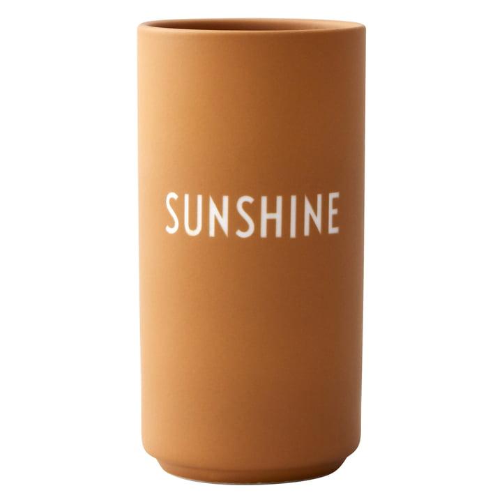 AJ Favourite Porcelain Vase, Sunshine / mustard from Design Letters