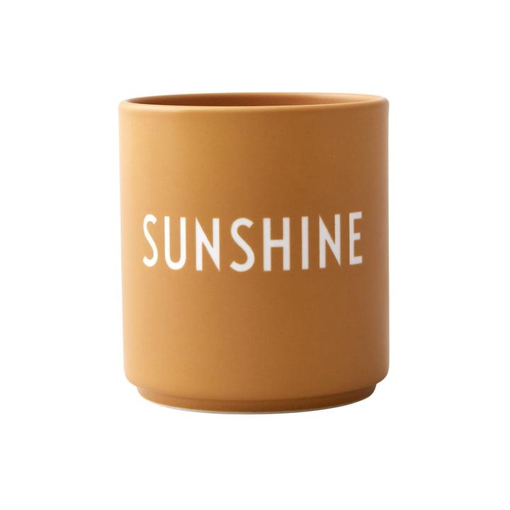 AJ Favourite porcelain mugs, Sunshine by Design Letters