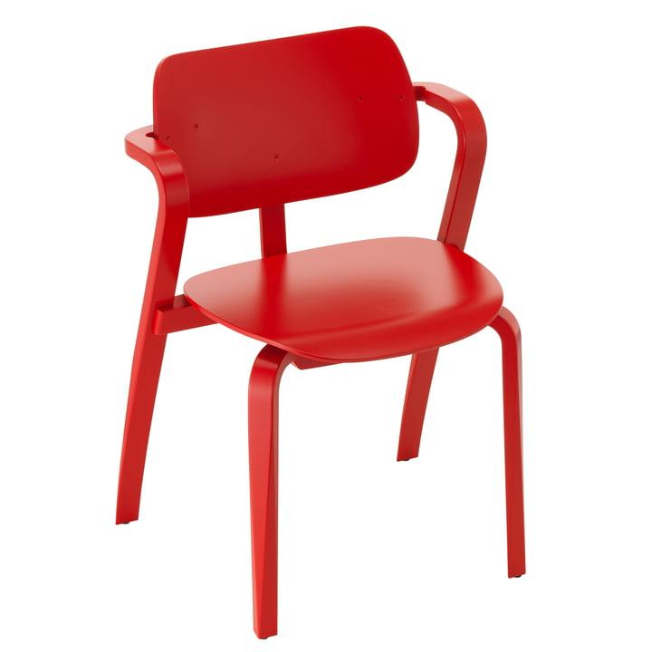 Aslak Chair, painted red by Artek