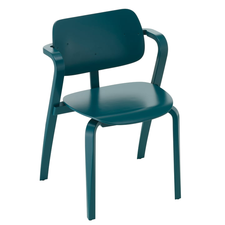 Aslak Chair, petrol painted by Artek
